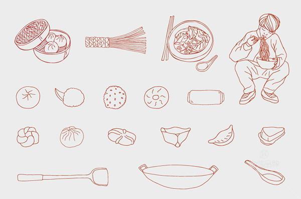 baobao包子店店vi设计 小吃策划 vi标志logo设计 第15张