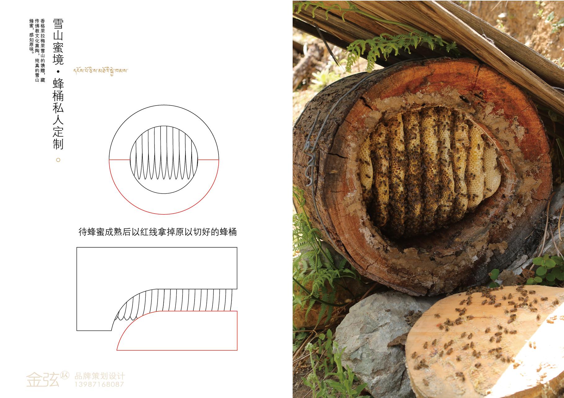 品吉 雪山蜜境私人定制蜂桶认领方案 包装设计 客户资料  第7张