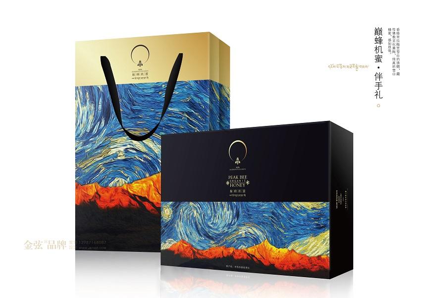 香格里拉巅峰机蜜蜂蜜伴手礼包装设计 包装设计 未命名  第1张