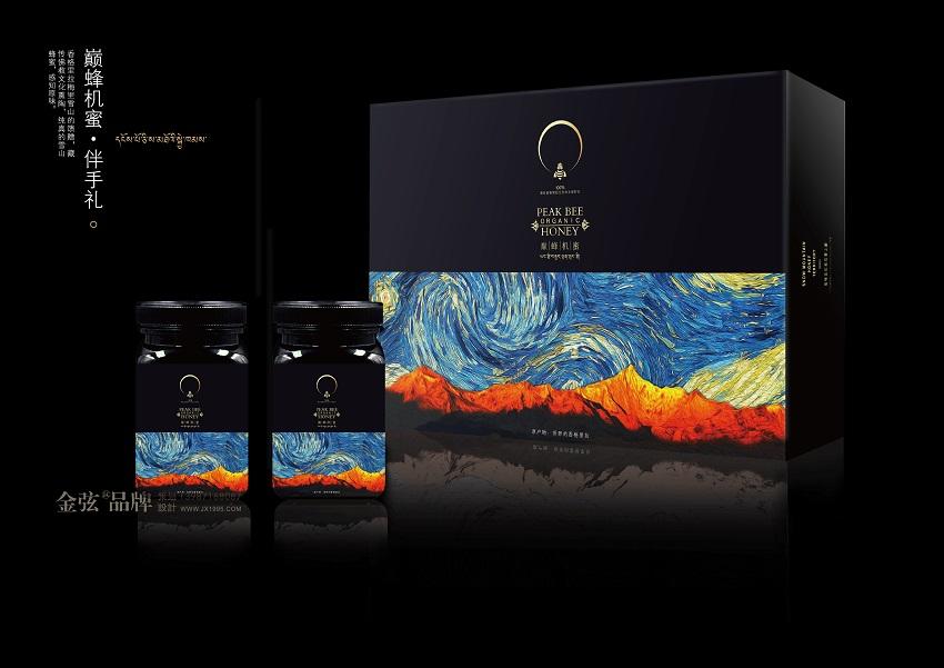 香格里拉巅峰机蜜蜂蜜伴手礼包装设计 包装设计 未命名  第4张