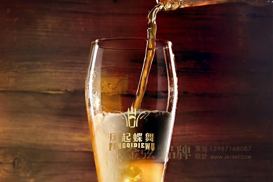 风起蝶舞大理啤酒logo设计 酒类logo设计 logo设计 vi设计  第2张