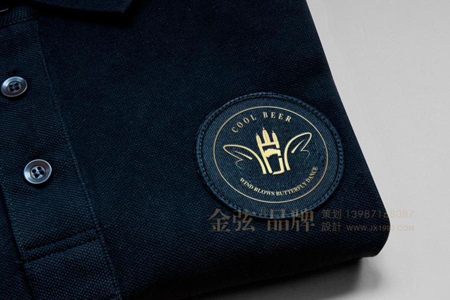 昆明logo设计13987168087 风起蝶舞啤酒logo  VI标志logo设计  第7张