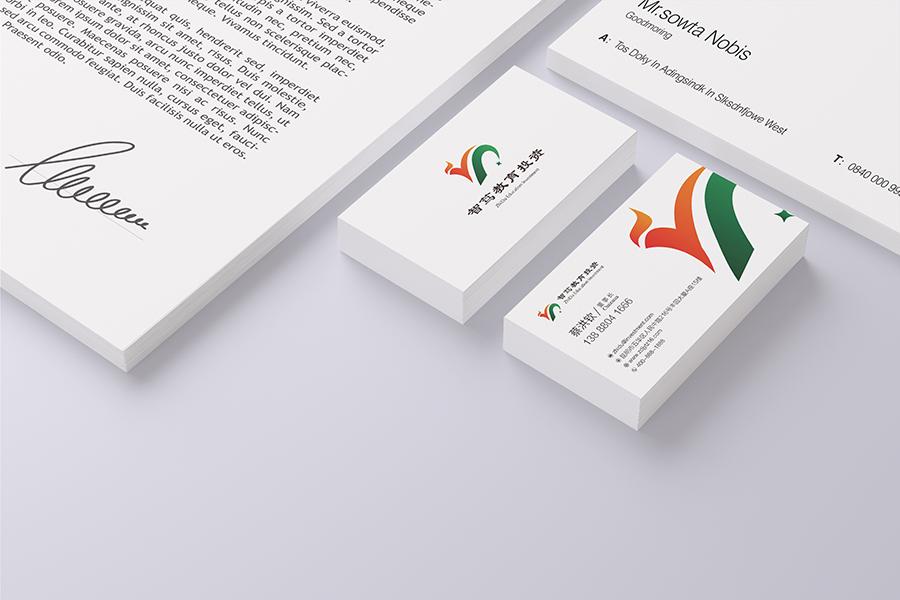 昆明logo设计 金弦案例智笃教育投资  VI标志logo设计  第2张