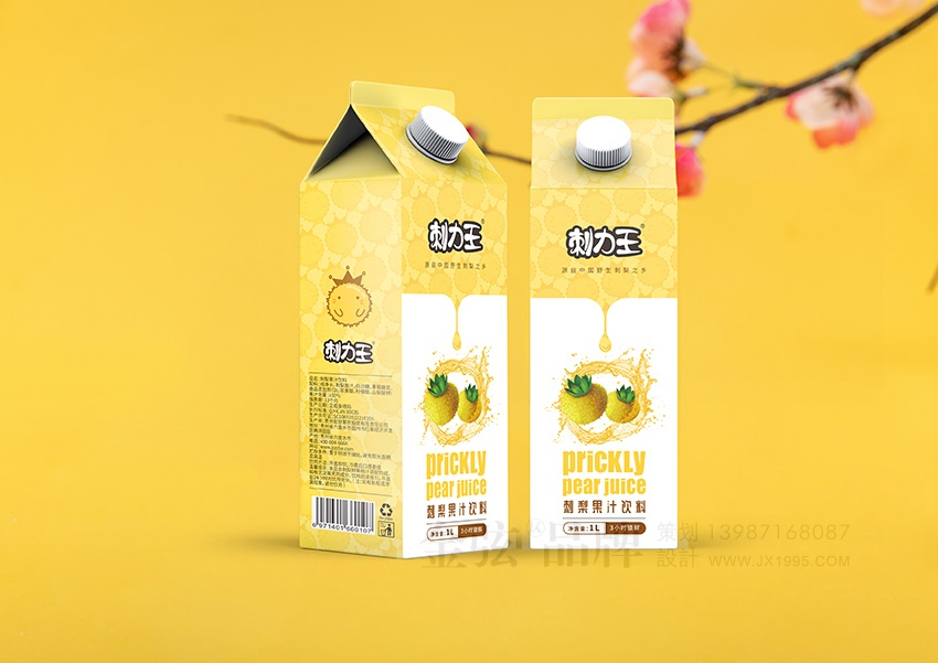 刺力王果汁包装设计 饮料包装设计 饮料logo设计 饮料电商设计 包装设计  第1张