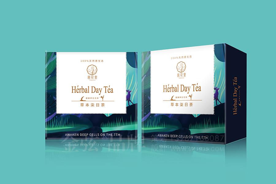 茵花里健康花茶包装设计 昆明特产包装设计 食品包装设计 包装设计  第1张