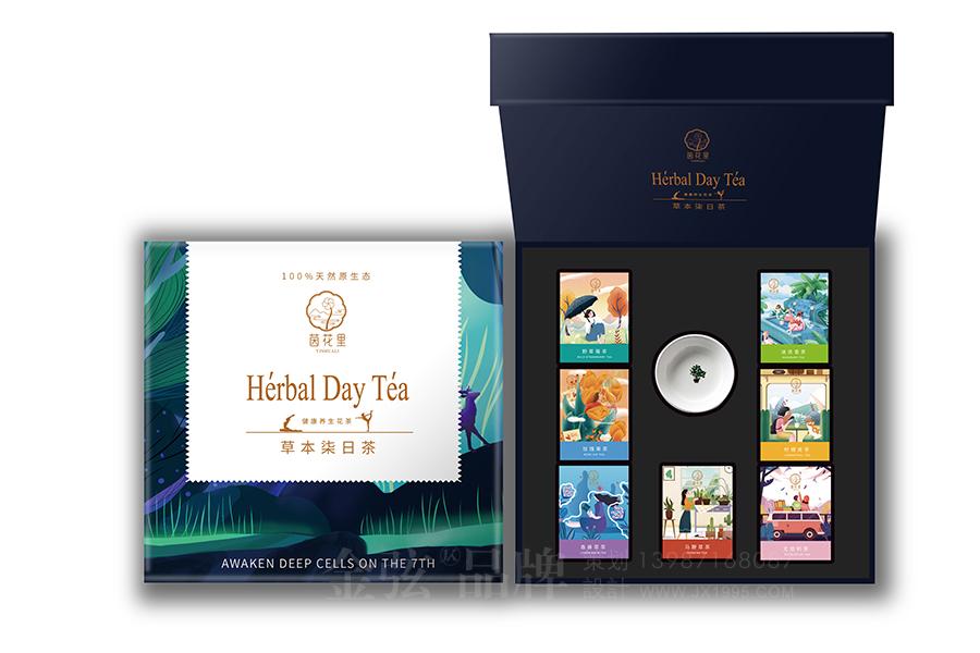 茵花里健康花茶包装设计 昆明特产包装设计 食品包装设计 包装设计  第2张