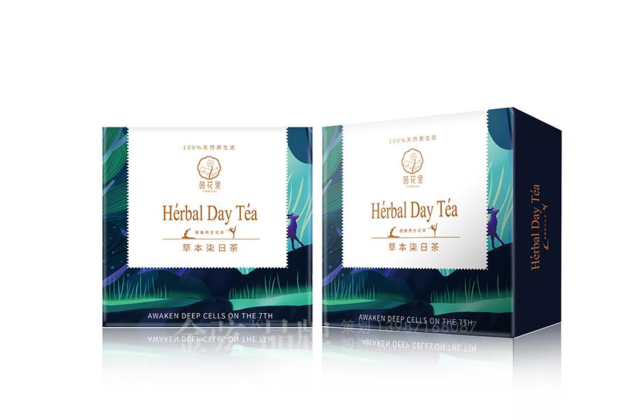 茵花里健康花茶包装设计 昆明特产包装设计 食品包装设计 包装设计  第3张