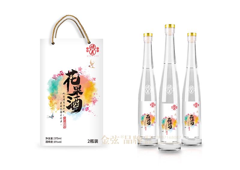 倾心花果酒包装设计 昆明特产包装设计 酒类包装设计 包装设计  第3张