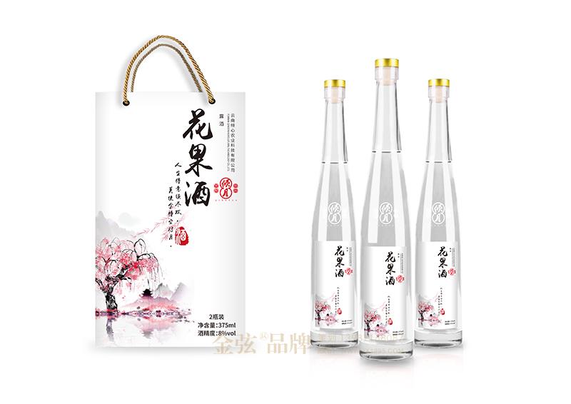 倾心花果酒包装设计 昆明特产包装设计 酒类包装设计 包装设计  第4张