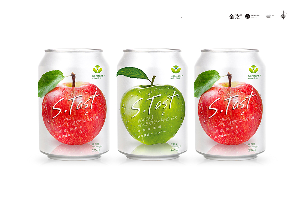 雨恒苹果醋饮料包装设计 包装设计 饮品设计 包装设计  第3张