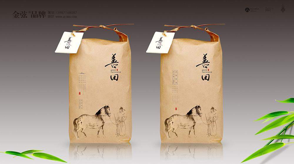 五常大米包装设计善田大米 包装设计 未命名  第3张