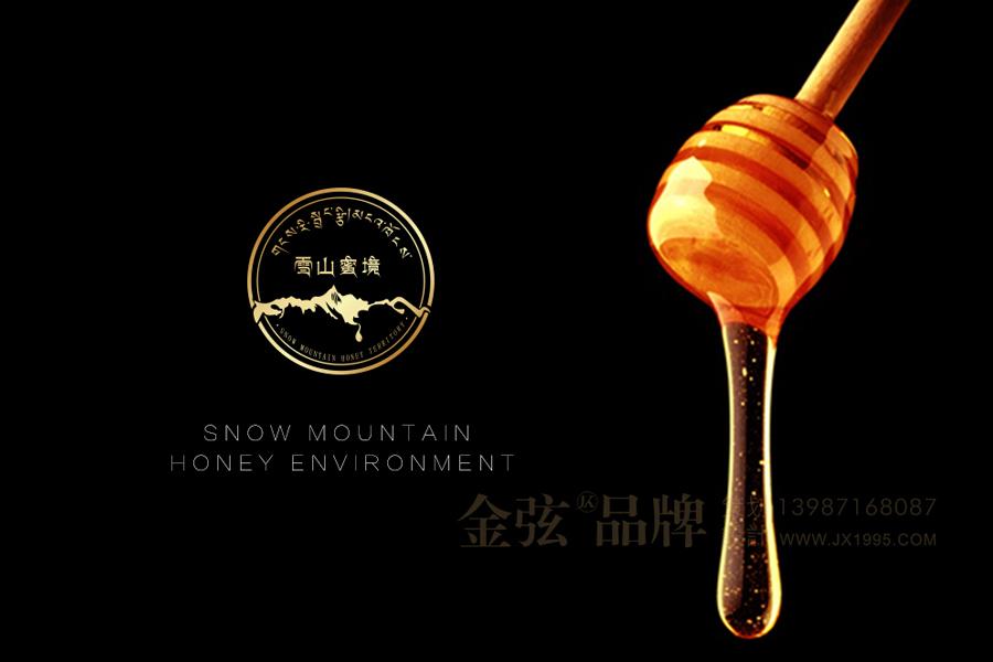 云南昆明雪山蜂蜜logo设计 食品logo设计 logo设计 vi设计  第2张