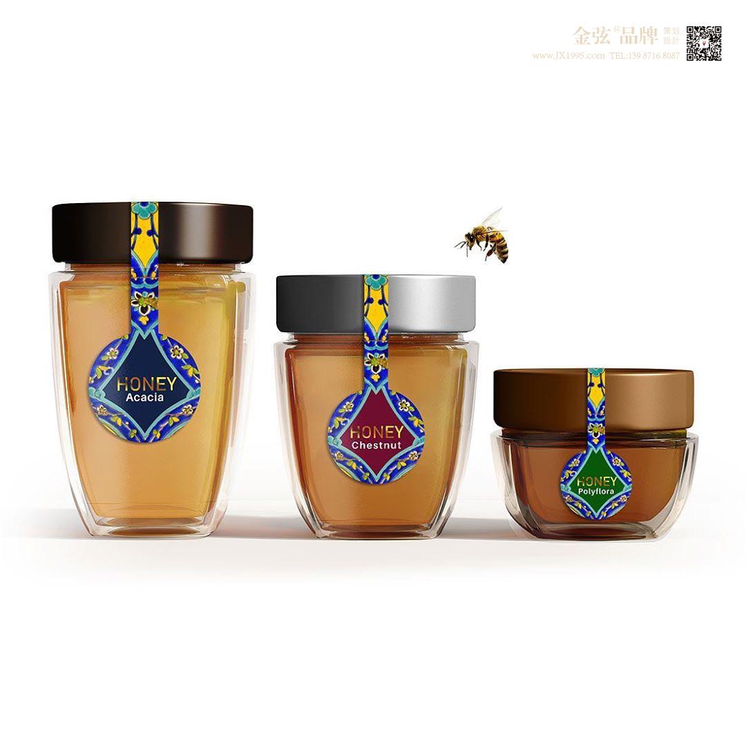 云南昆明hot蜂蜜包装设计 昆明特产包装设计 食品包装设计 包装设计  第3张